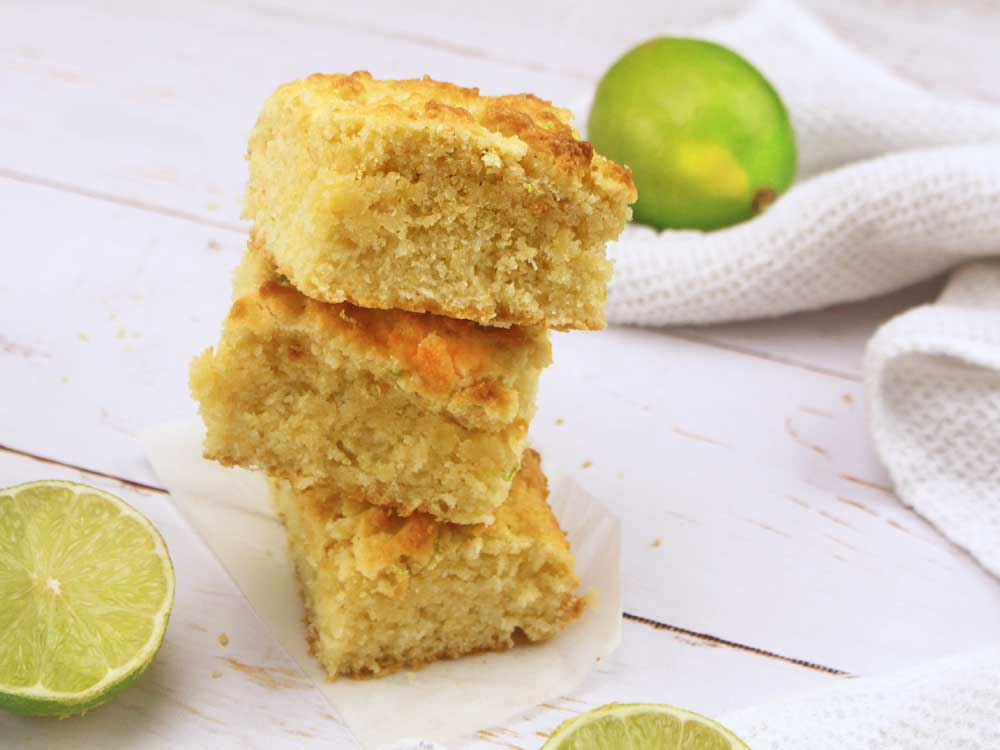 Lime & Coconut Slice