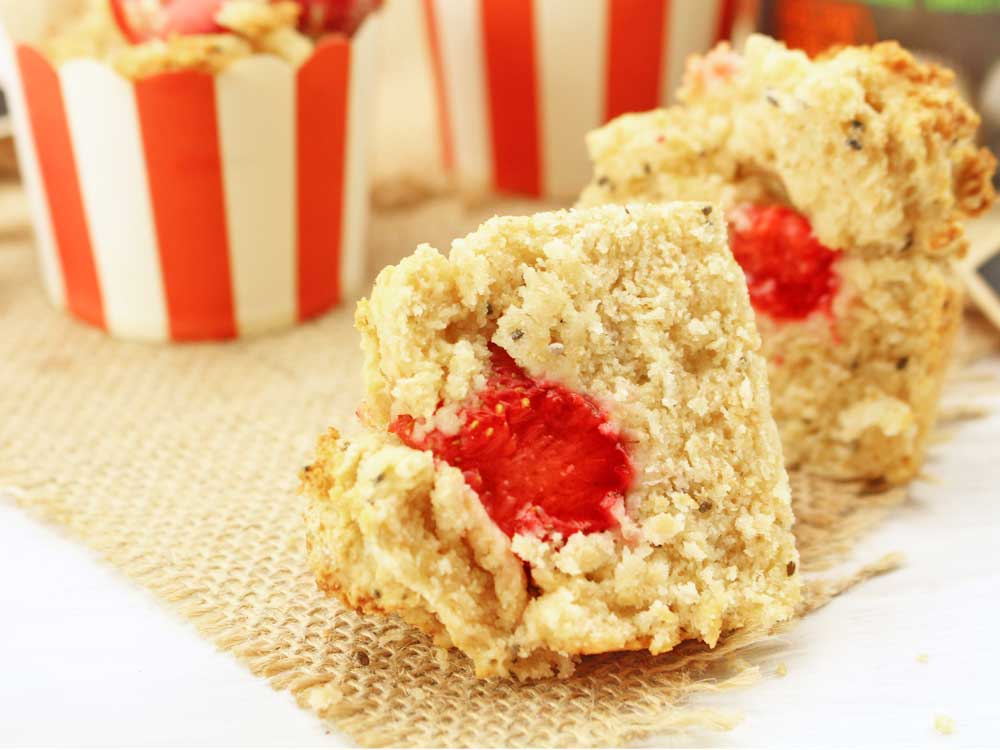 Strawberry & Chia Scuffins
