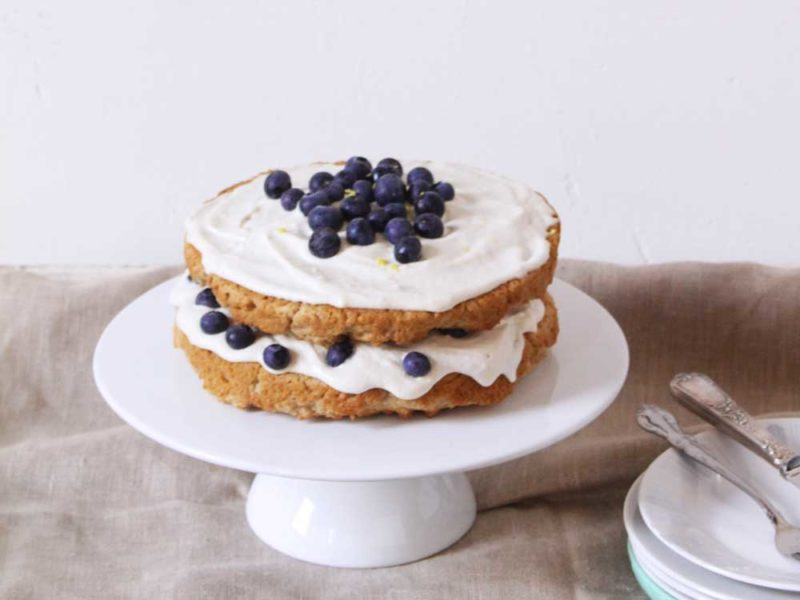 Vegan-Lemon-&-Blueberry-Cake